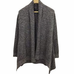 Theory Marled Long Sleeve Open Front Cardigan